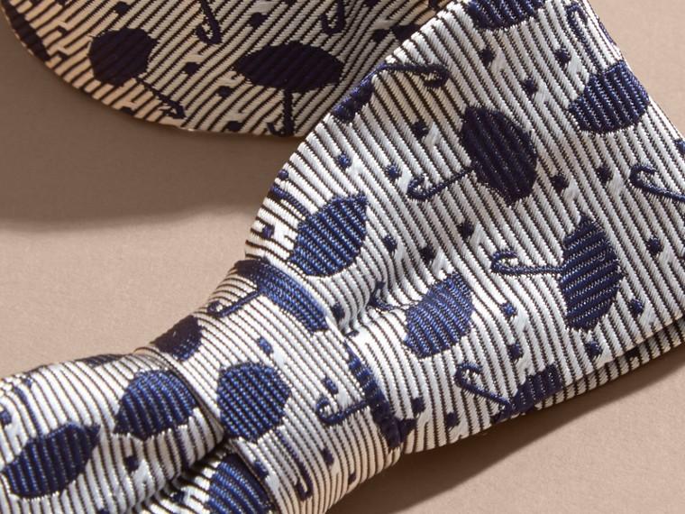 Umbrella Motif Metallic Silk Bow Tie - cell image 1