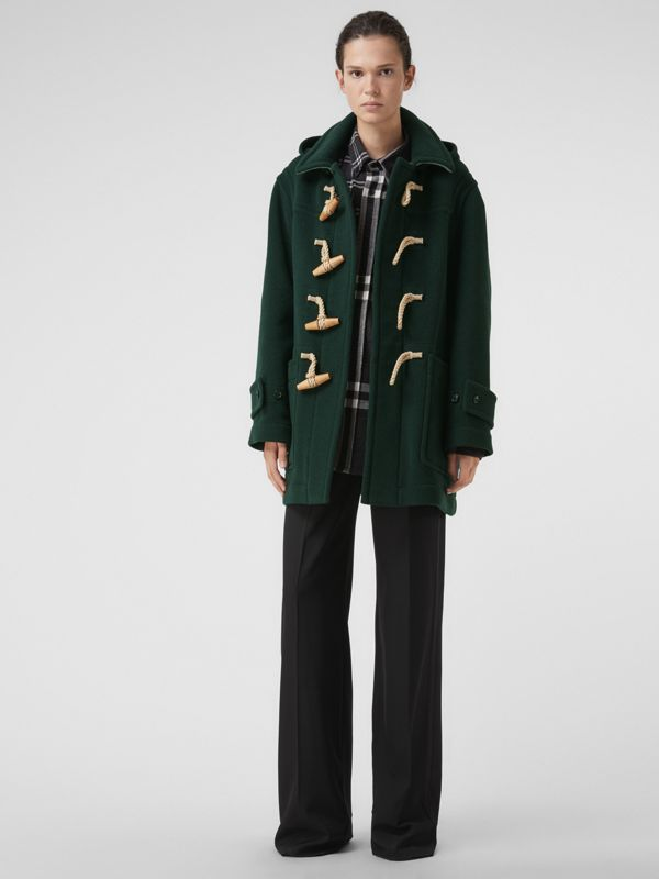Gosha x Burberry Oversized Duffle Coat in Dark Forest Green | Burberry - cell image 2