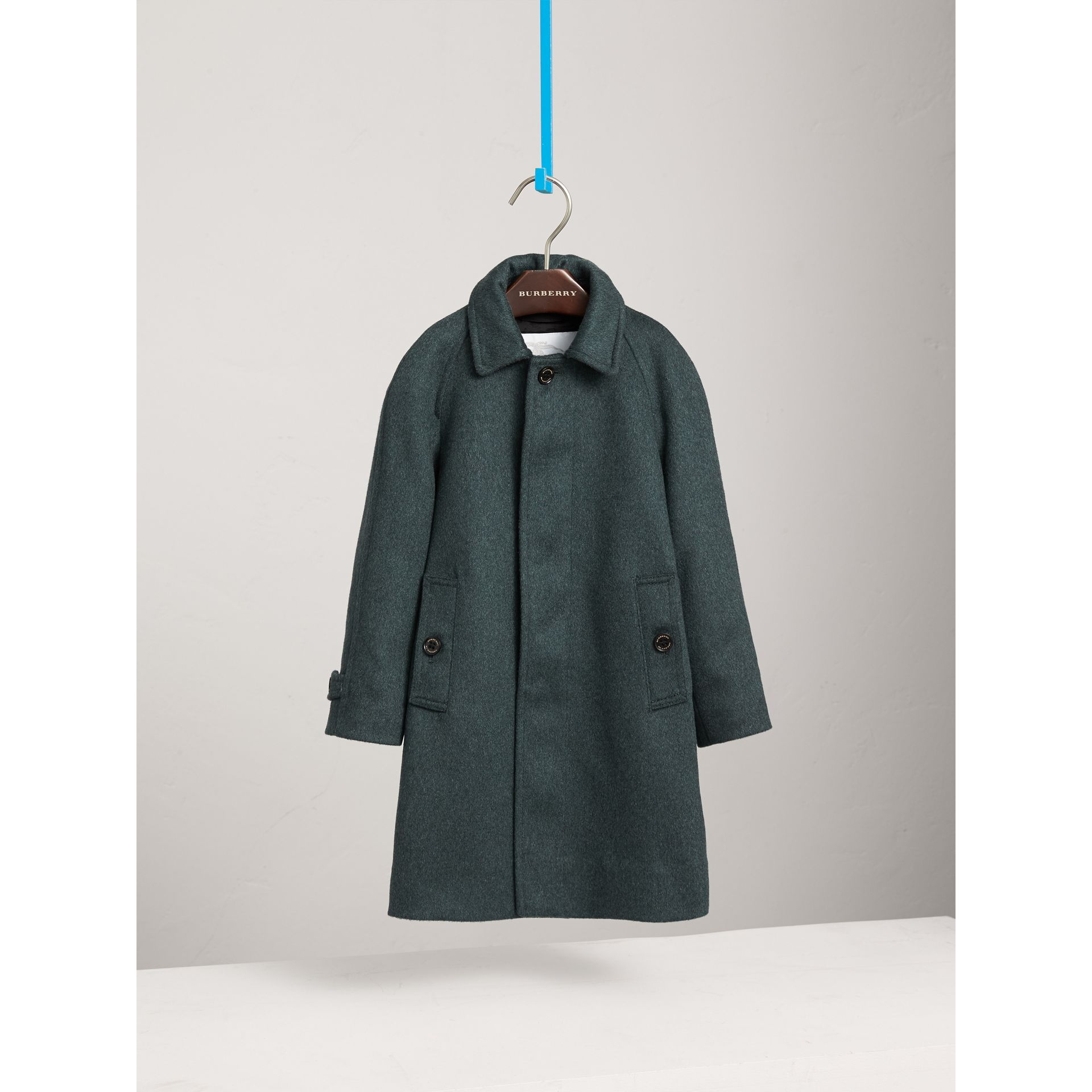 Raglan-sleeve Cashmere Car Coat in Bright Bottle Green - Boy | Burberry - gallery image 3