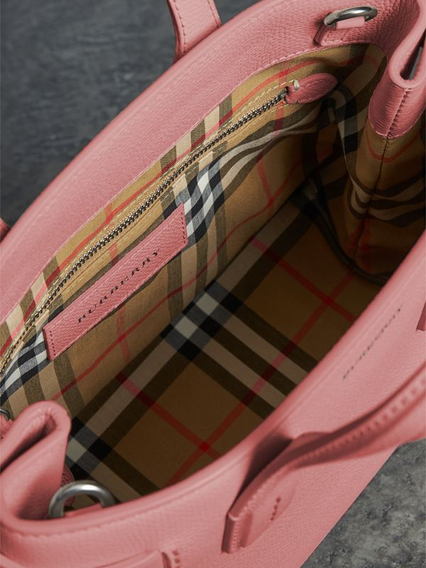 The Small Banner in Leather and Vintage Check in Dusty Rose - Women | Burberry - cell image 3