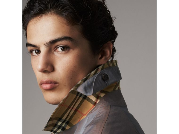 The Camden – Long Car Coat in Lilac Grey - Men | Burberry Singapore - cell image 1