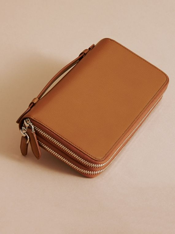 London Leather Travel Wallet in Tan - Men | Burberry - cell image 3