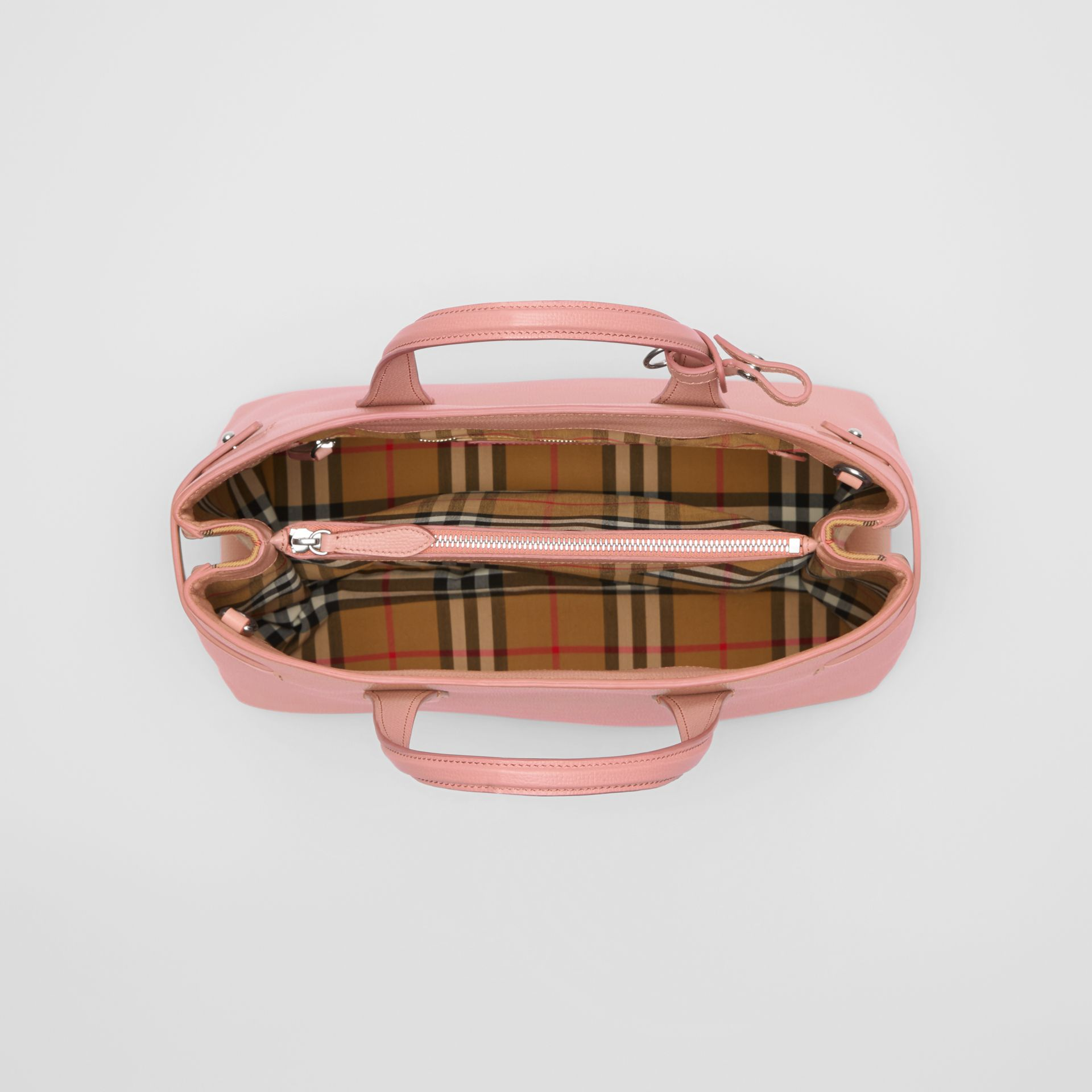 The Medium Banner in Leather and Vintage Check in Ash Rose - Women | Burberry - gallery image 5