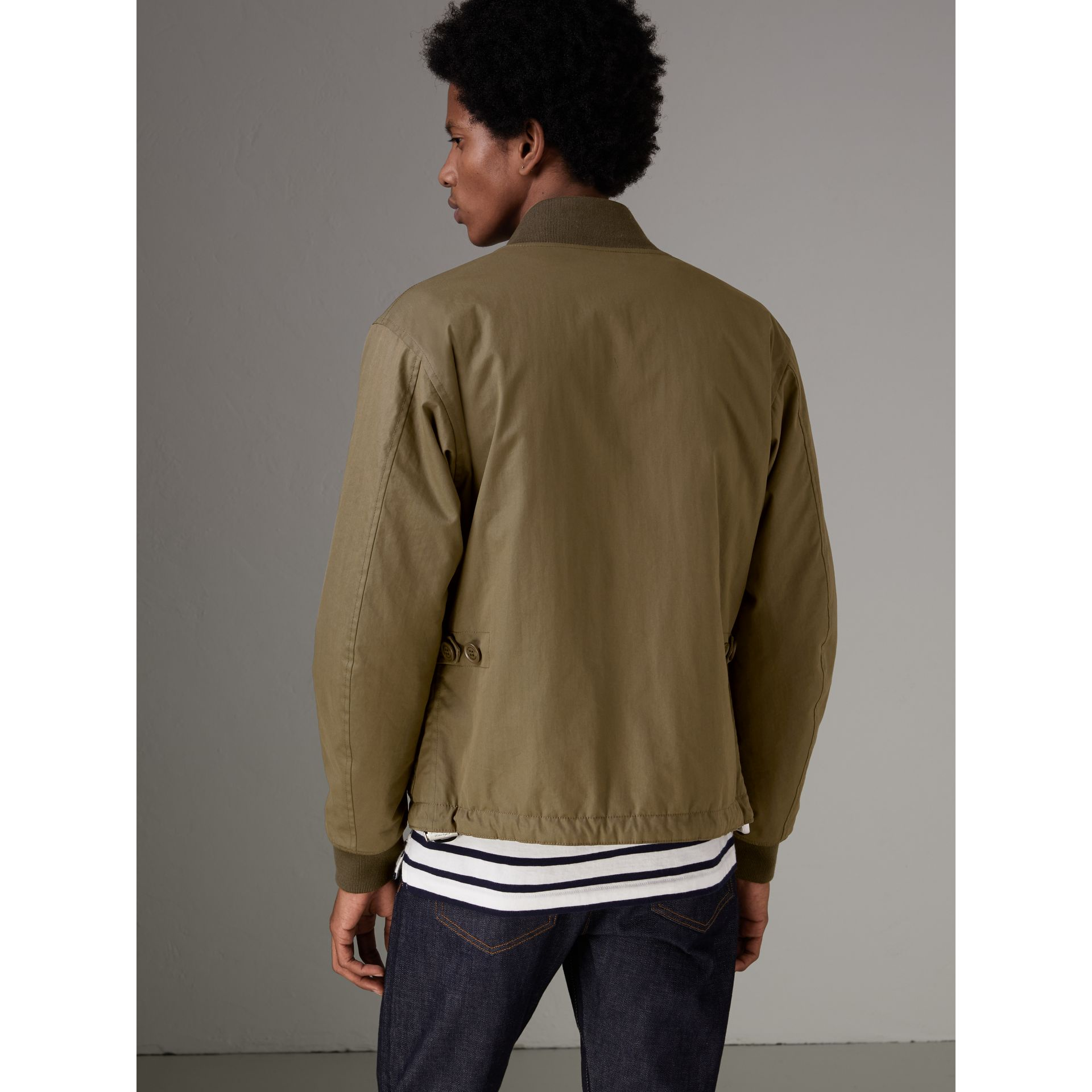 Reversible Quilted Bomber Jacket in Military Khaki - Men | Burberry - gallery image 2