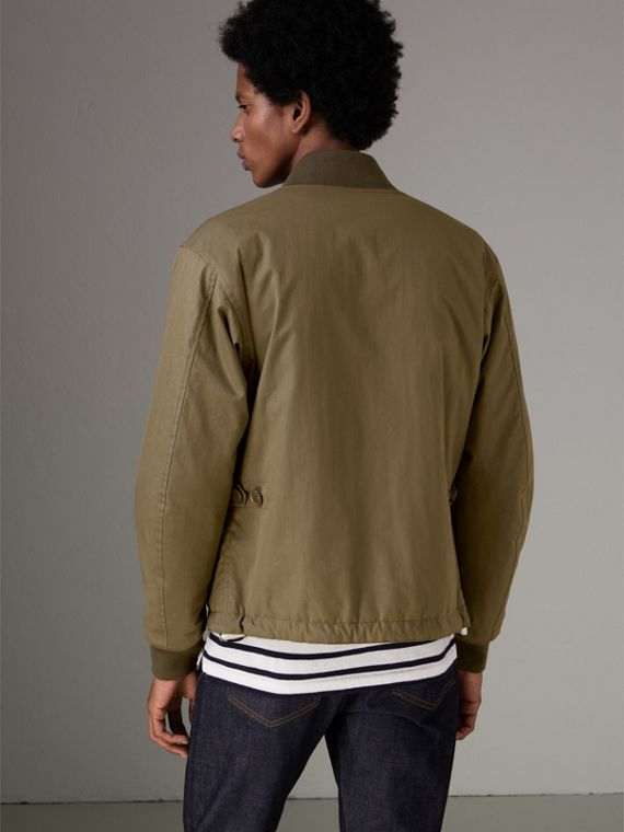 Reversible Quilted Bomber Jacket in Military Khaki - Men | Burberry Hong Kong - cell image 2