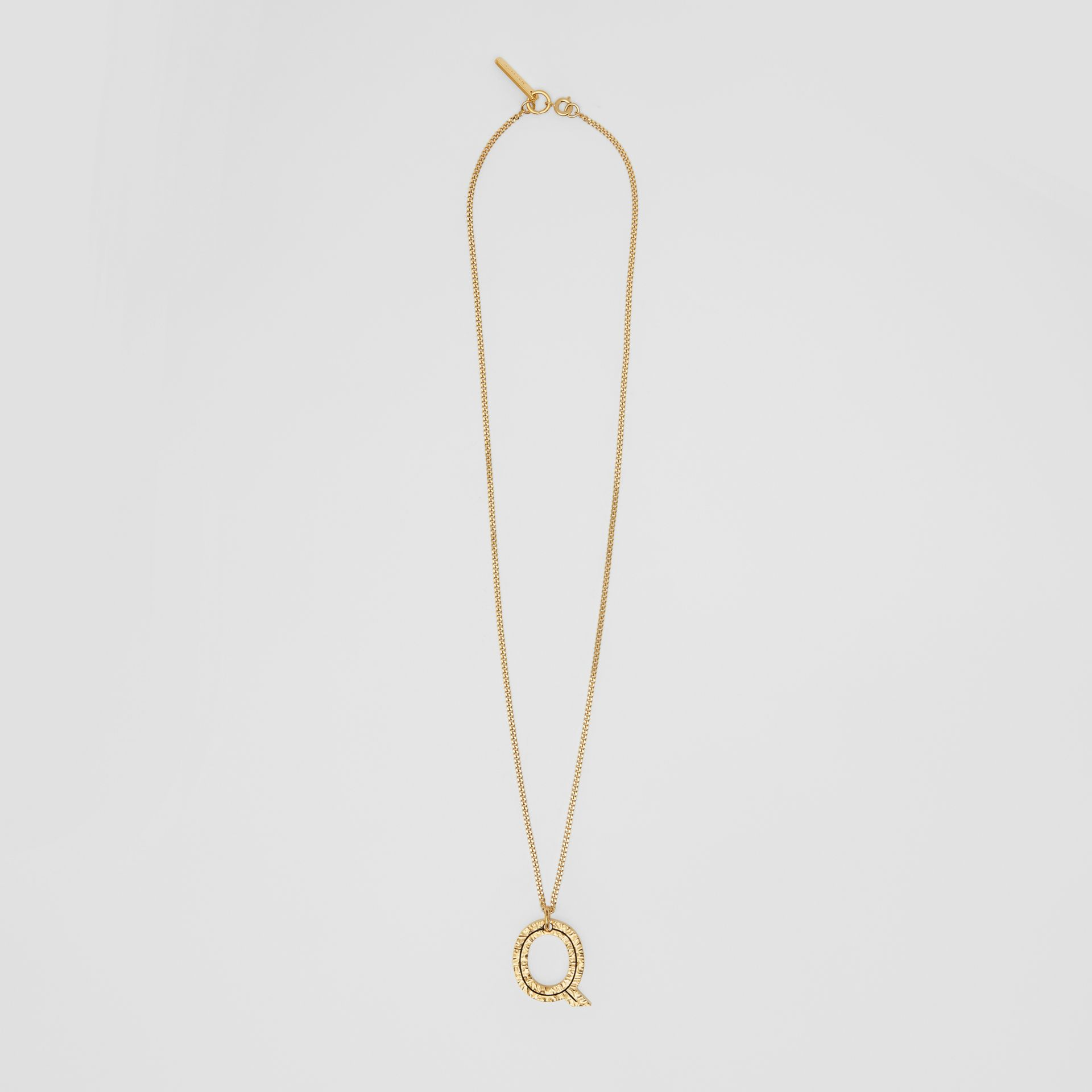 'Q' Alphabet Charm Gold-plated Necklace in Light - Women | Burberry United Kingdom - gallery image 0