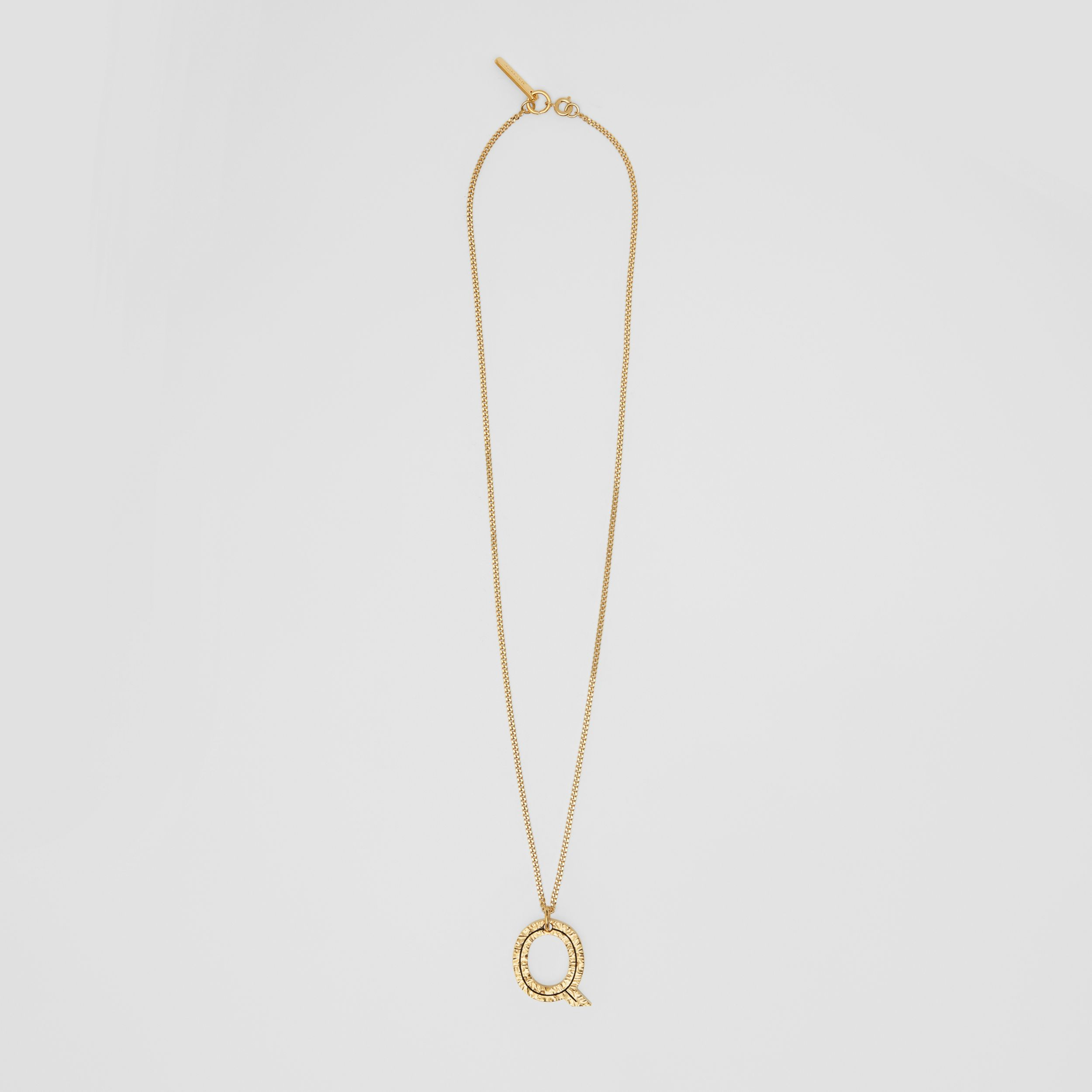 'Q' Alphabet Charm Gold-plated Necklace in Light - Women | Burberry - 1