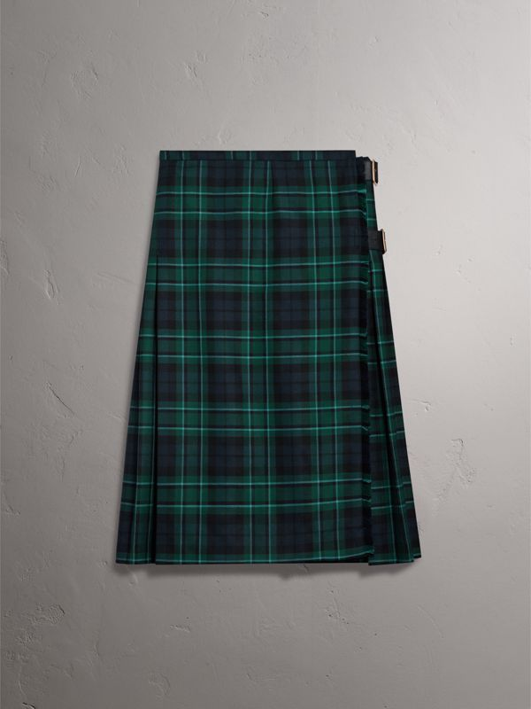Tartan Wool Kilt in Pine Green - Women | Burberry United Kingdom - cell image 3