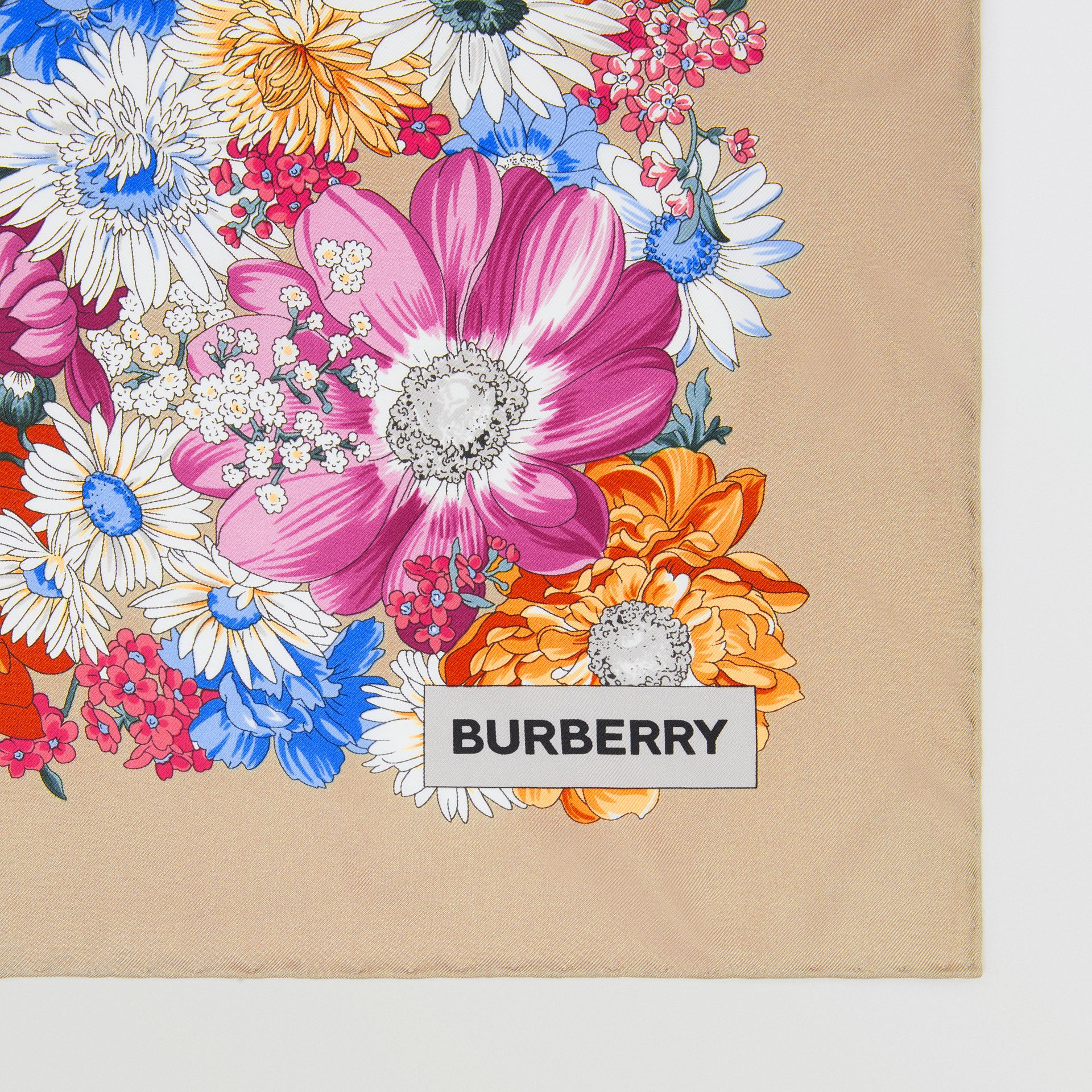 Archive Scarf Print Silk Square Scarf in Multicolour | Burberry Singapore - gallery image 1