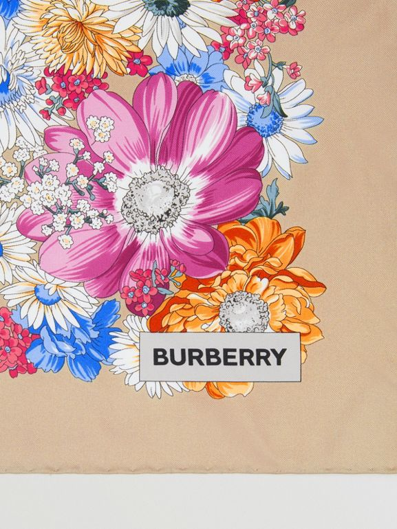 Archive Scarf Print Silk Square Scarf in Multicolour | Burberry United Kingdom - cell image 1