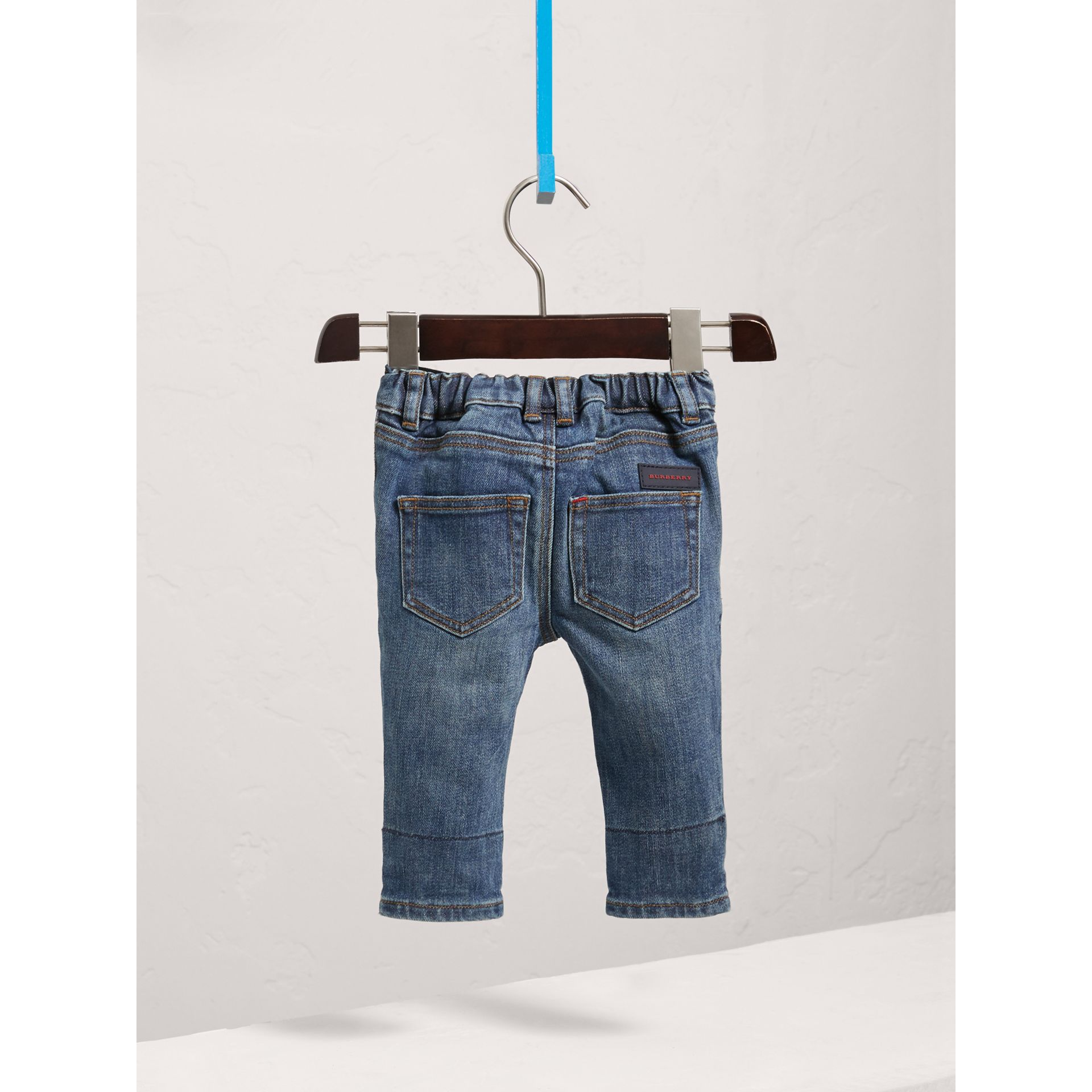 Relaxed Fit Indigo Jeans in Mid - Children | Burberry United States - gallery image 3