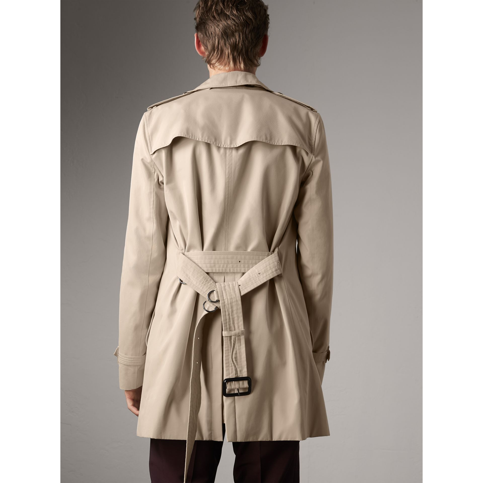 The Kensington – Mid-length Trench Coat in Stone - Men | Burberry Singapore - gallery image 2