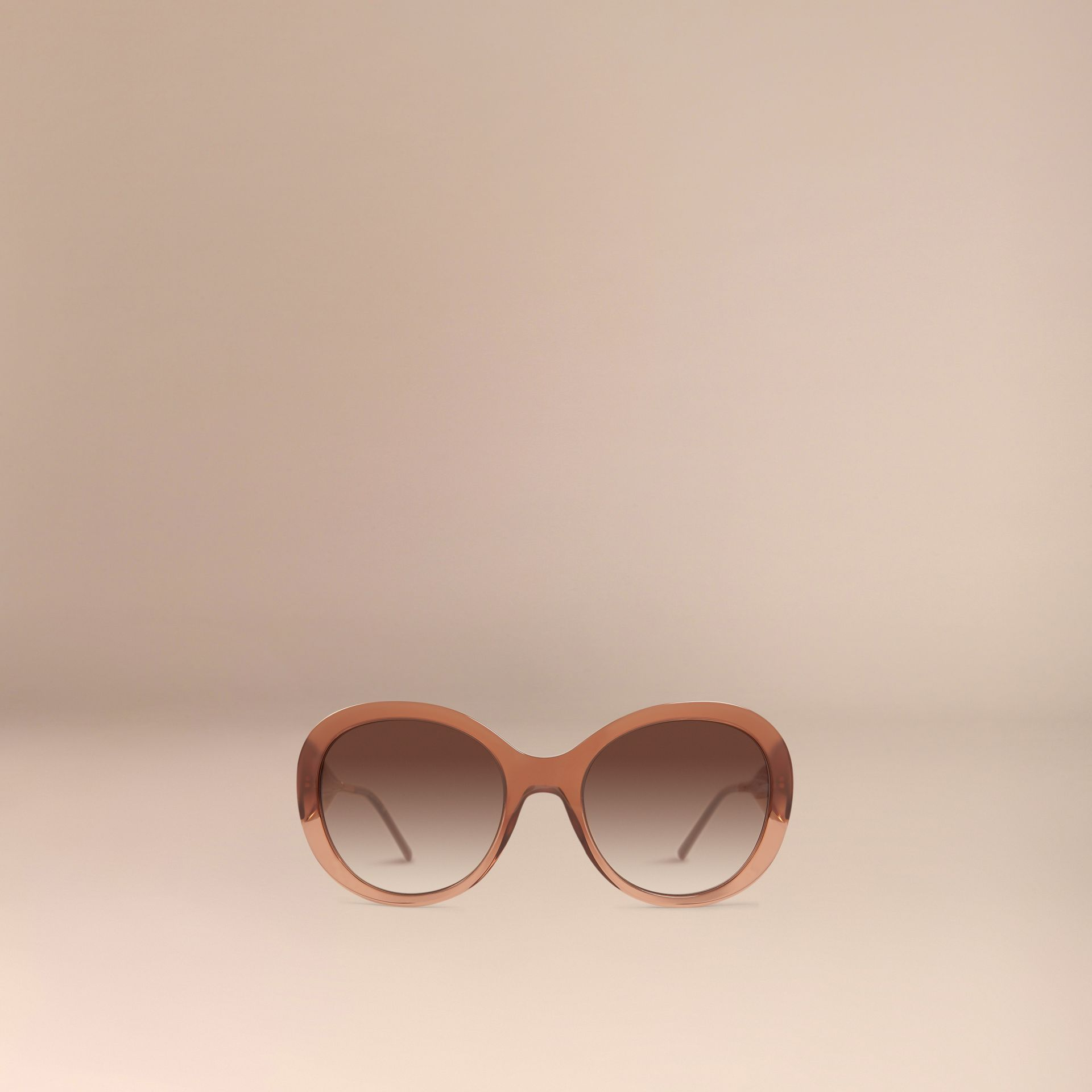 Fawn pink Oversize Round Frame Sunglasses - gallery image 3