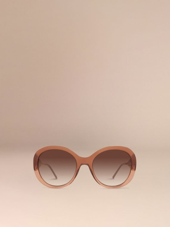 Fawn pink Oversize Round Frame Sunglasses - cell image 2