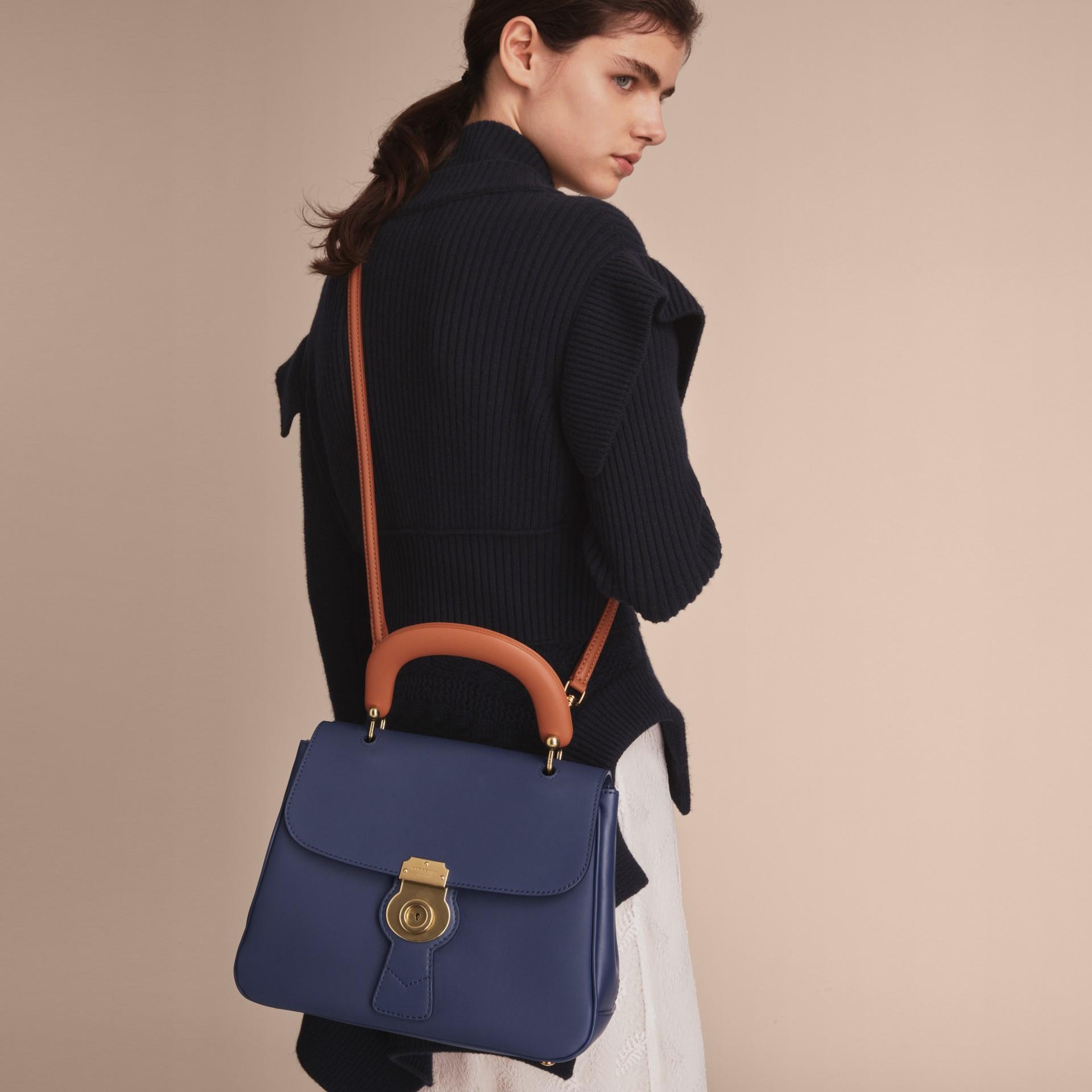 The Medium DK88 Top Handle Bag Ink Blue - gallery image 4