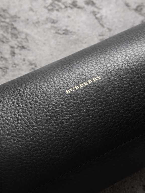 The Leather Barrel Bag in Black - Women | Burberry United States - cell image 1