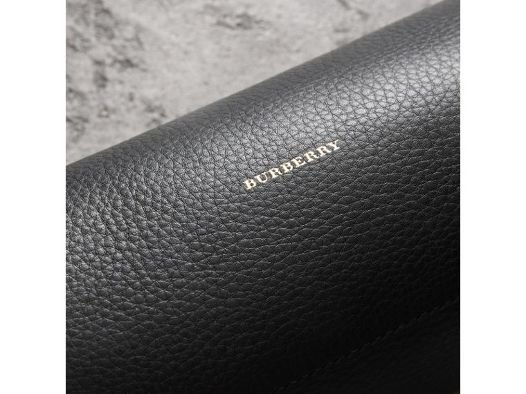 The Leather Barrel Bag in Black - Women | Burberry Australia - cell image 1