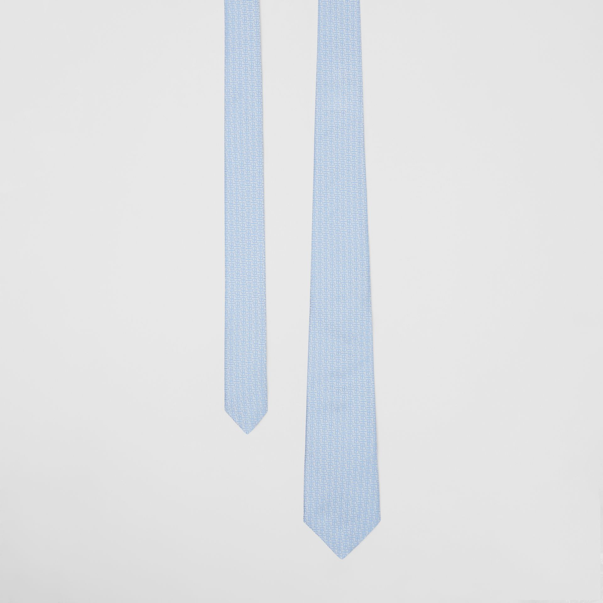 Classic Cut Monogram Silk Jacquard Tie in Pale Blue - Men | Burberry - gallery image 0