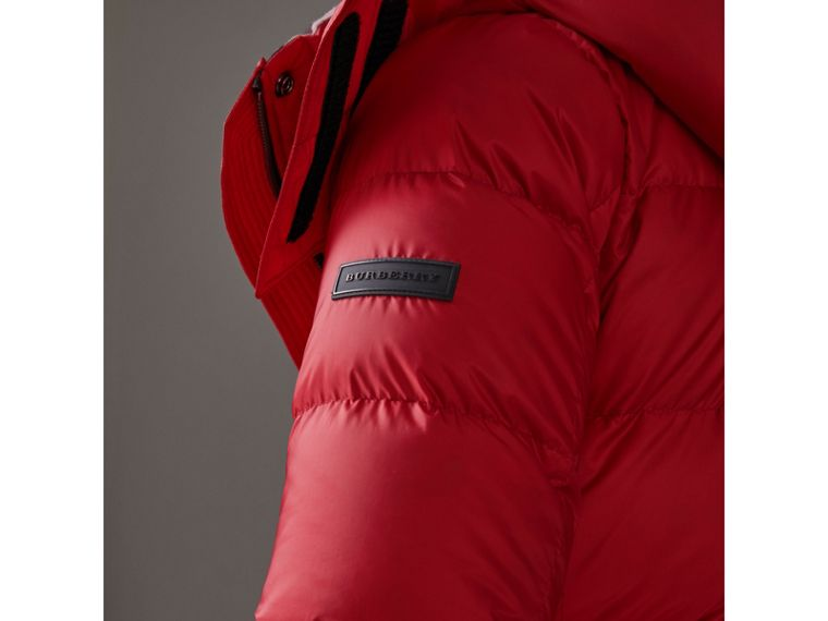 Down-filled Puffer Coat With Detachable Hood in Parade Red - Women | Burberry - cell image 4