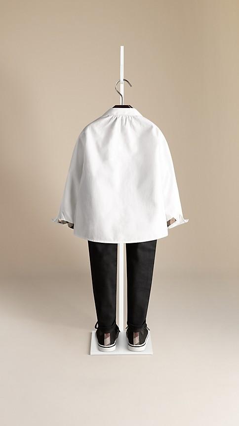 Blanc Chemise en coton ruché - Image 2