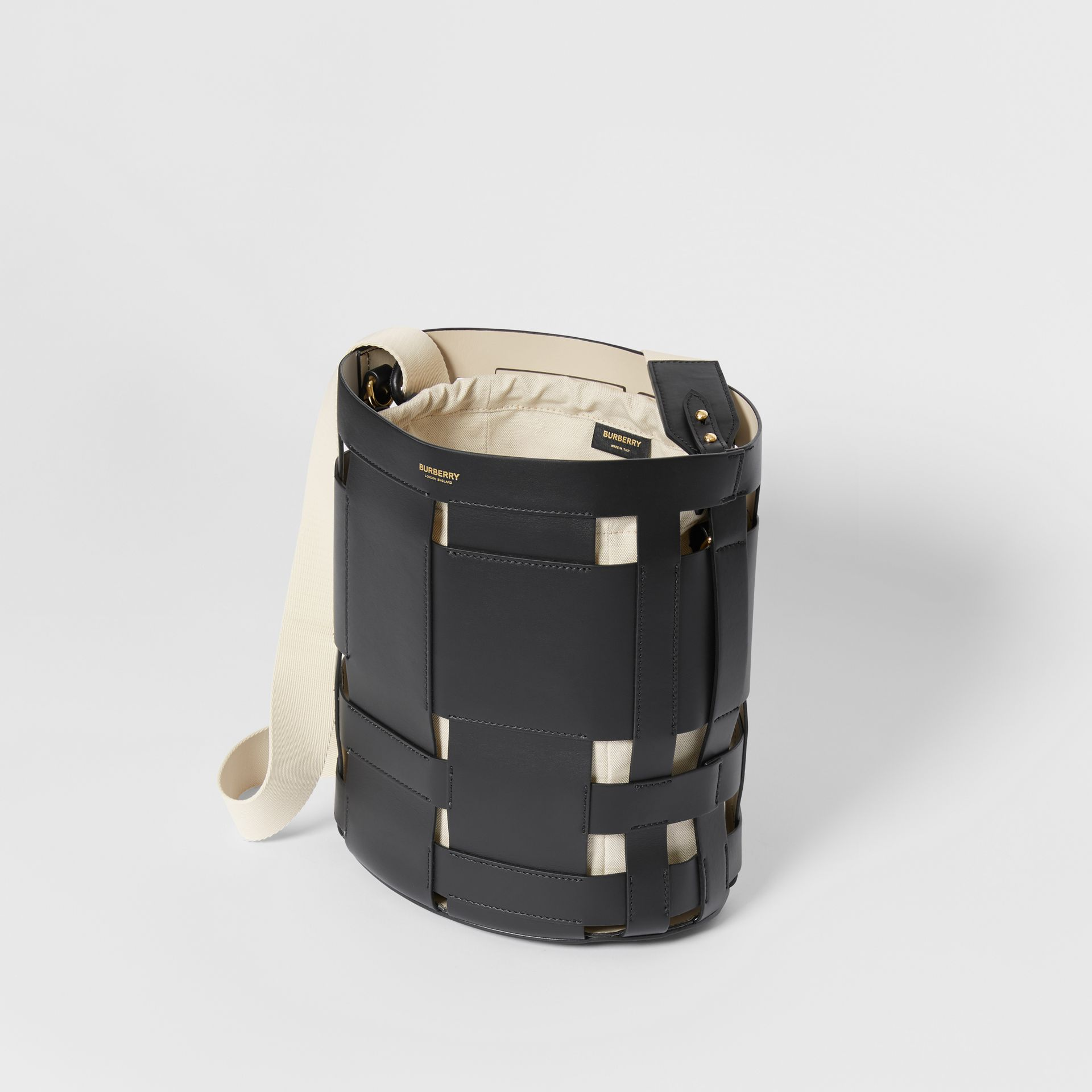 Small Leather Foster Bucket Bag in Black - Women | Burberry - gallery image 3