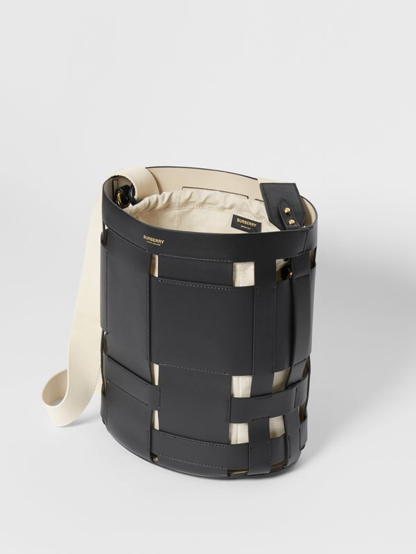 Small Leather Foster Bucket Bag in Black - Women | Burberry United Kingdom - cell image 3