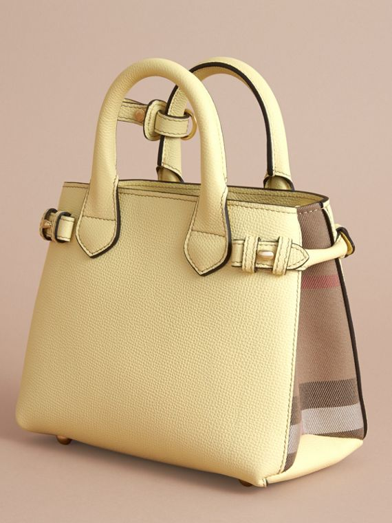 The Baby Banner in Leather and House Check in Camomile Yellow - Women | Burberry Canada - cell image 3