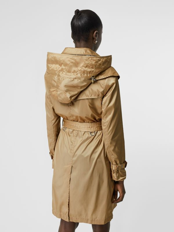 Detachable Hood ECONYL® Trench Coat in Honey - Women | Burberry United Kingdom - cell image 2