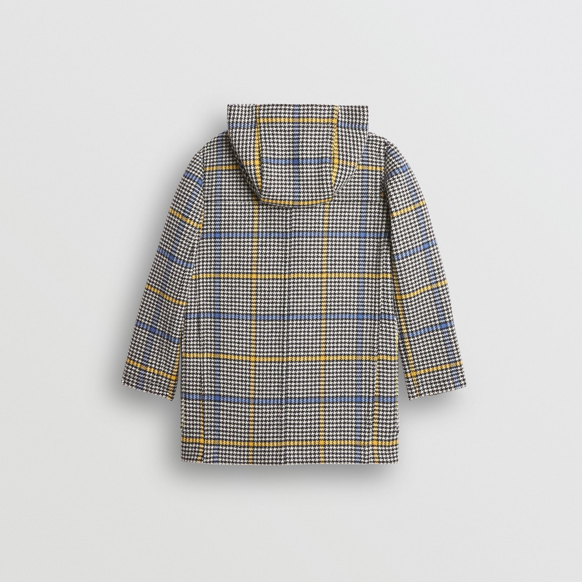 Houndstooth Check Wool Cashmere Duffle Coat in Parchment | Burberry United Kingdom - gallery image 3
