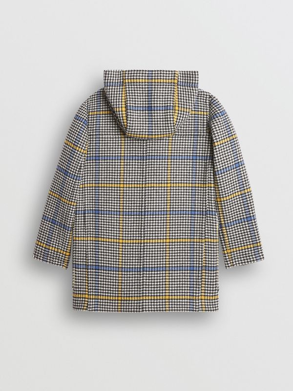 Houndstooth Check Wool Cashmere Duffle Coat in Parchment | Burberry United Kingdom - cell image 3