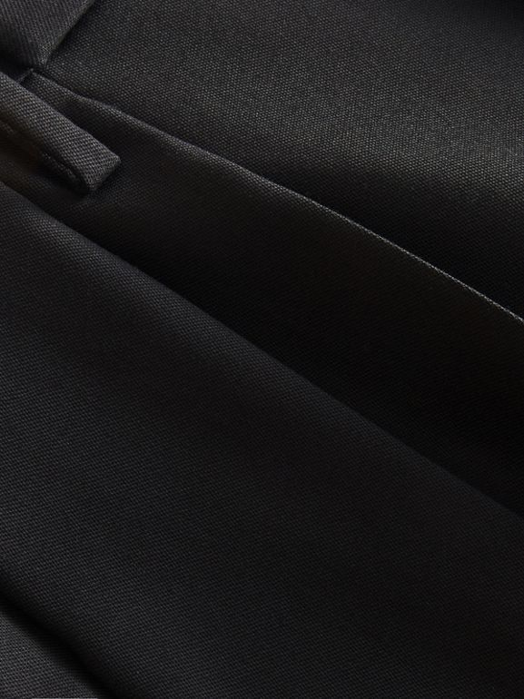 English Wool Mohair High-waist Tailored Trousers in Black - Men | Burberry United Kingdom - cell image 1