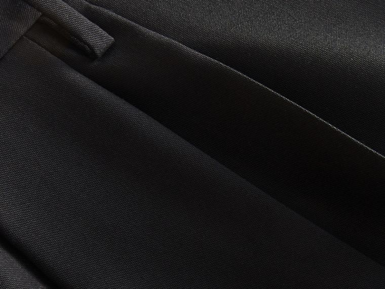 English Wool Mohair High-waist Tailored Trousers in Black - Men | Burberry Australia - cell image 1