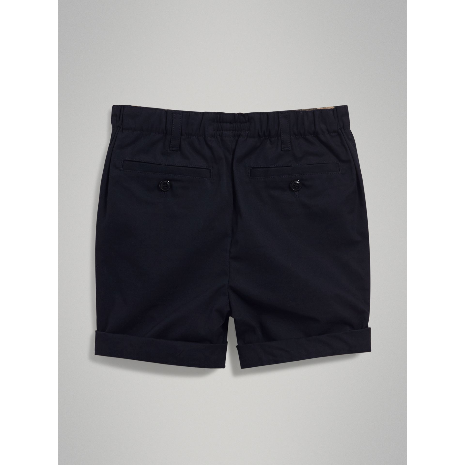 Cotton Chino Shorts in Ink - Boy | Burberry United Kingdom - gallery image 3
