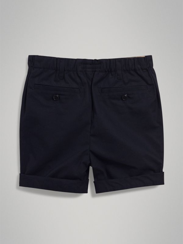 Cotton Chino Shorts in Ink - Boy | Burberry - cell image 3