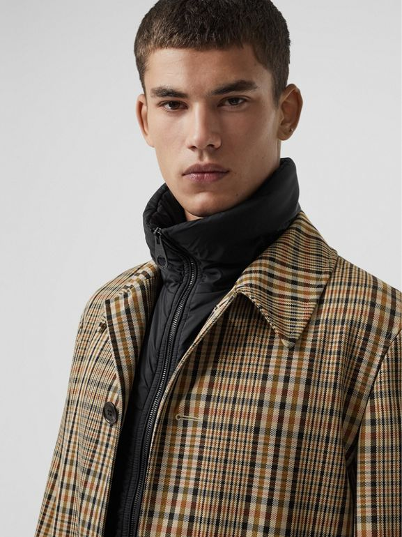 Check Car Coat with Detachable Gilet in Dark Camel - Men | Burberry - cell image 1
