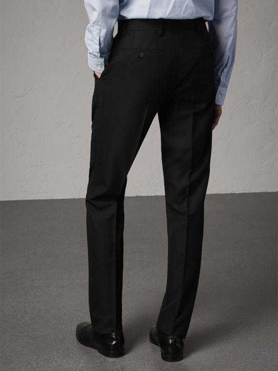 Modern Fit Wool Trousers in Black - Men | Burberry - cell image 2