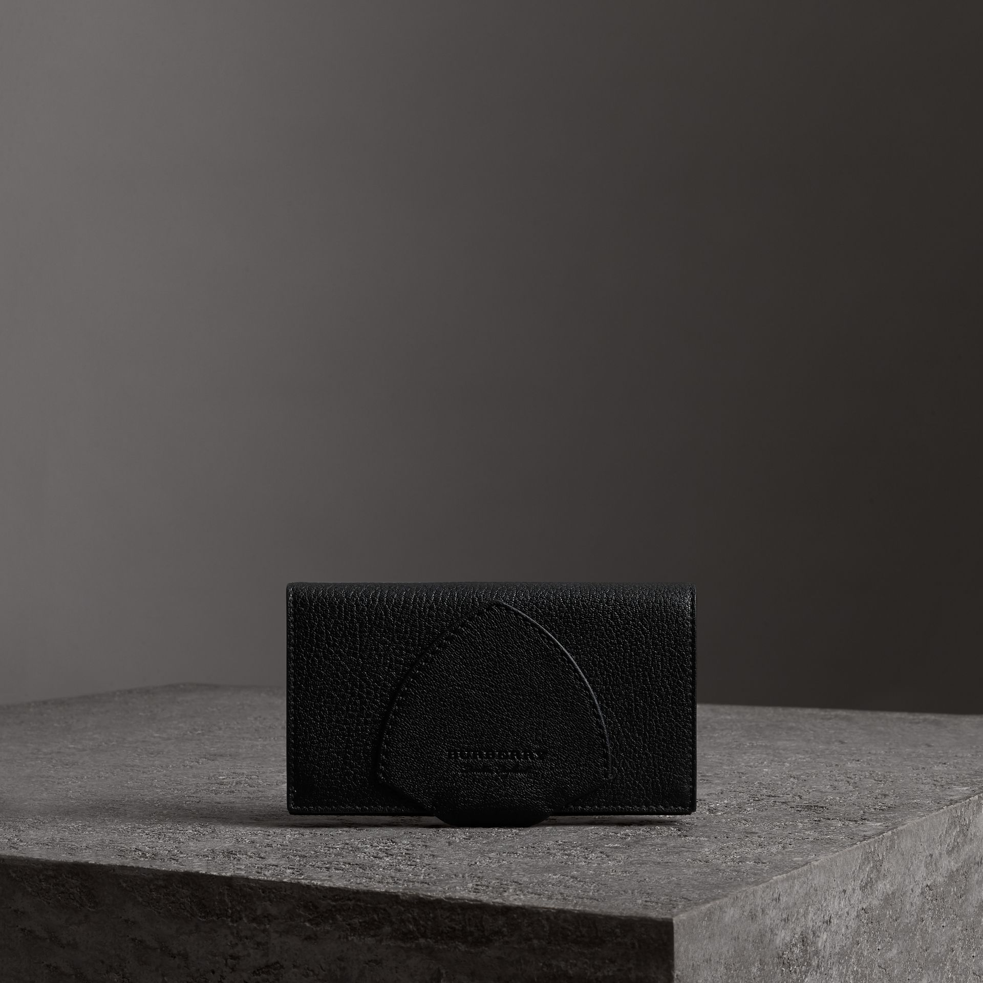 Equestrian Shield Two-tone Leather Continental Wallet in Black - Women | Burberry Canada - gallery image 0