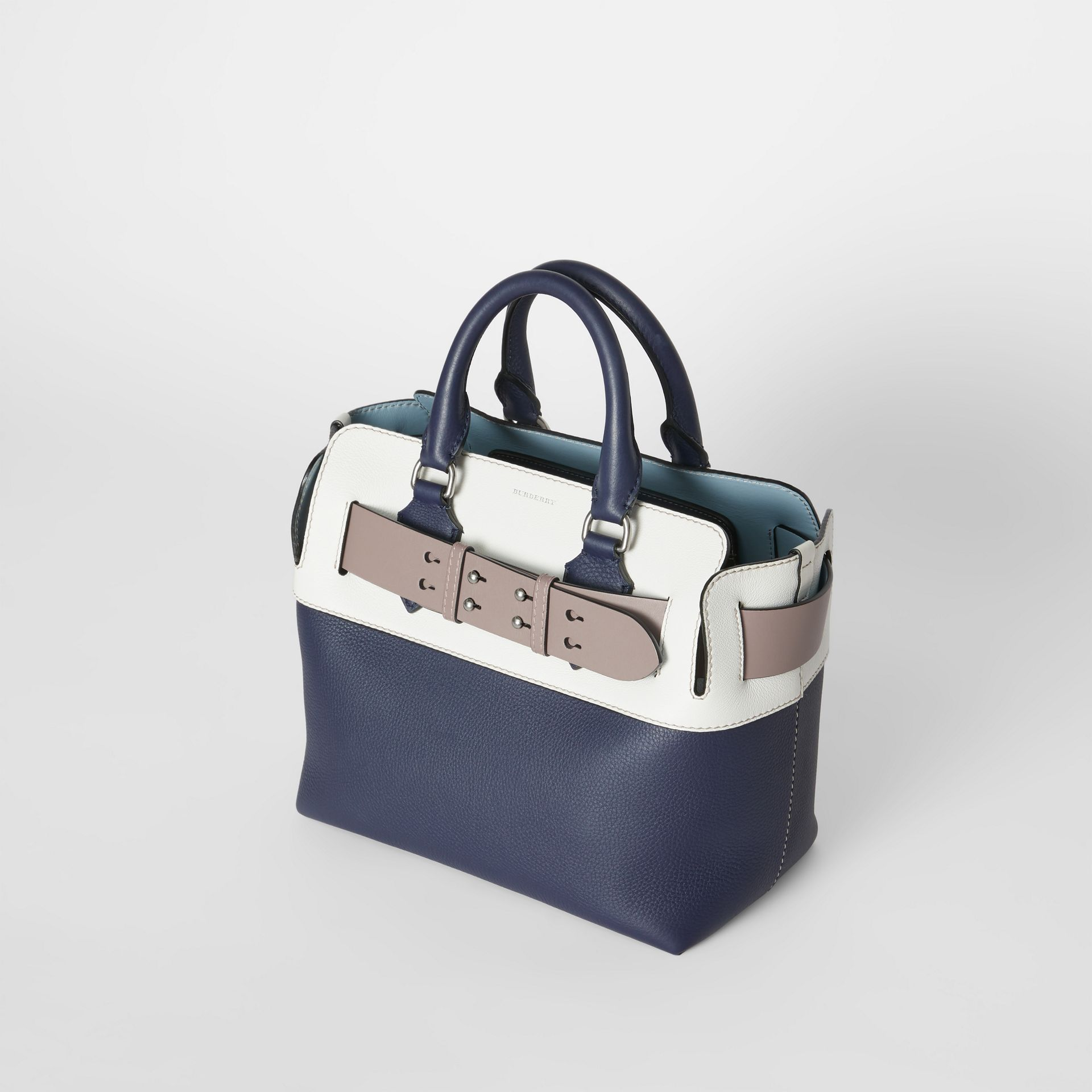 The Small Quadri-tone Leather Belt Bag in Regency Blue/chalk White - Women | Burberry - gallery image 3