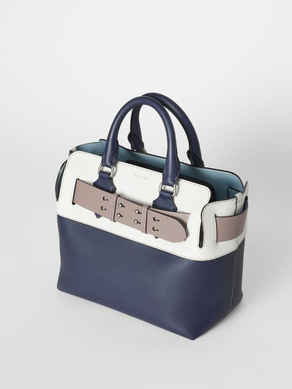 The Small Quadri-tone Leather Belt Bag in Regency Blue/chalk White - Women | Burberry - cell image 3
