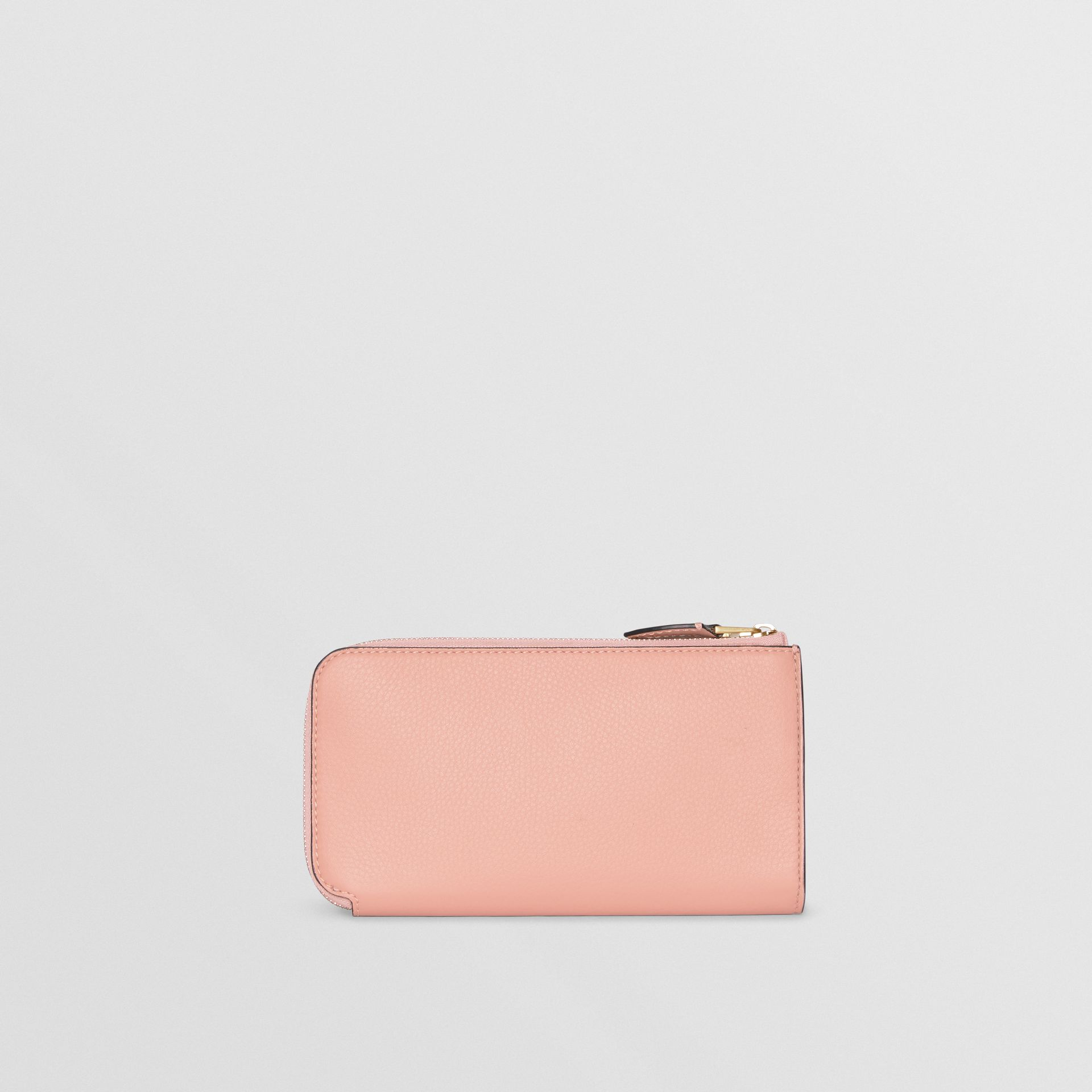 Two-tone Leather Ziparound Wallet and Coin Case in Ash Rose - Women | Burberry - gallery image 6