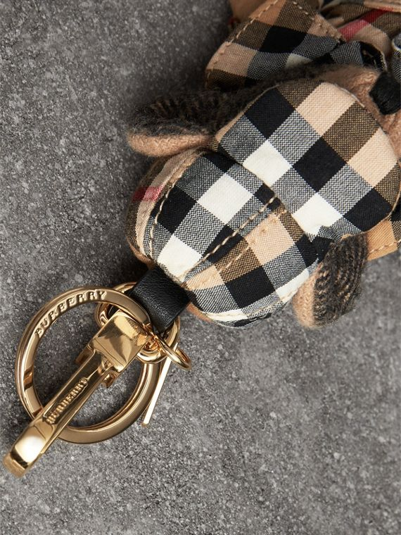 Thomas Bear Charm in Vintage Check Trench Coat in Camel | Burberry Hong Kong - cell image 2