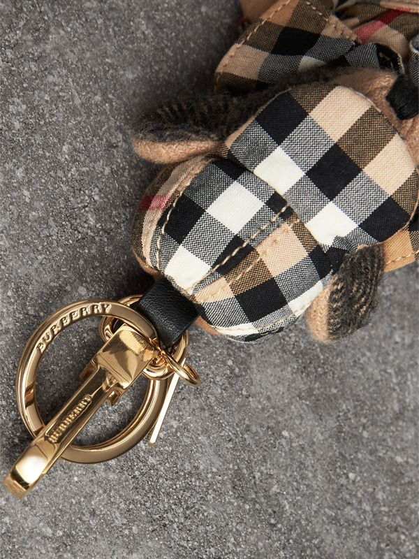 Thomas Bear Charm in Vintage Check Trench Coat in Camel | Burberry - cell image 2