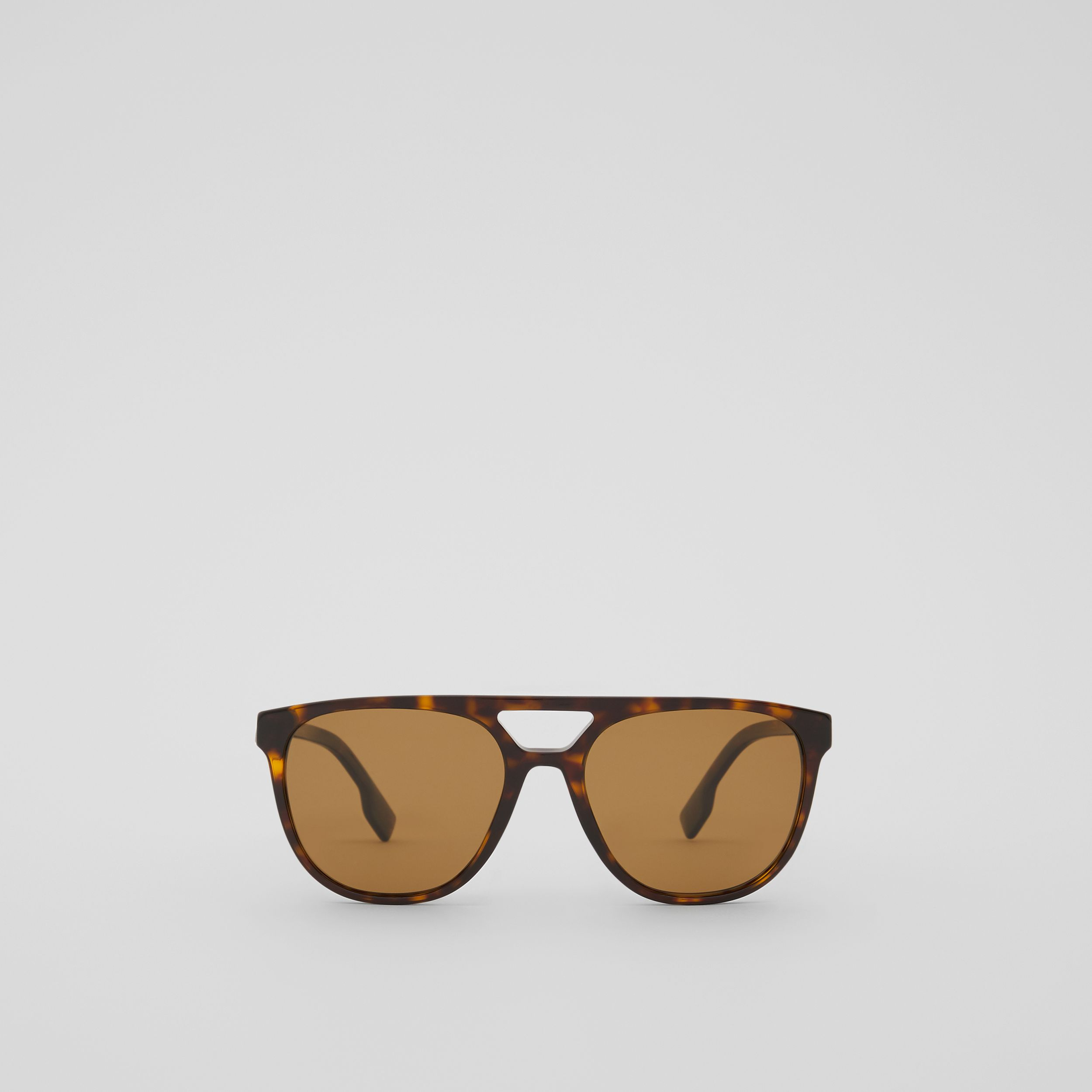 Navigator Sunglasses in Tortoiseshell - Men | Burberry - 1