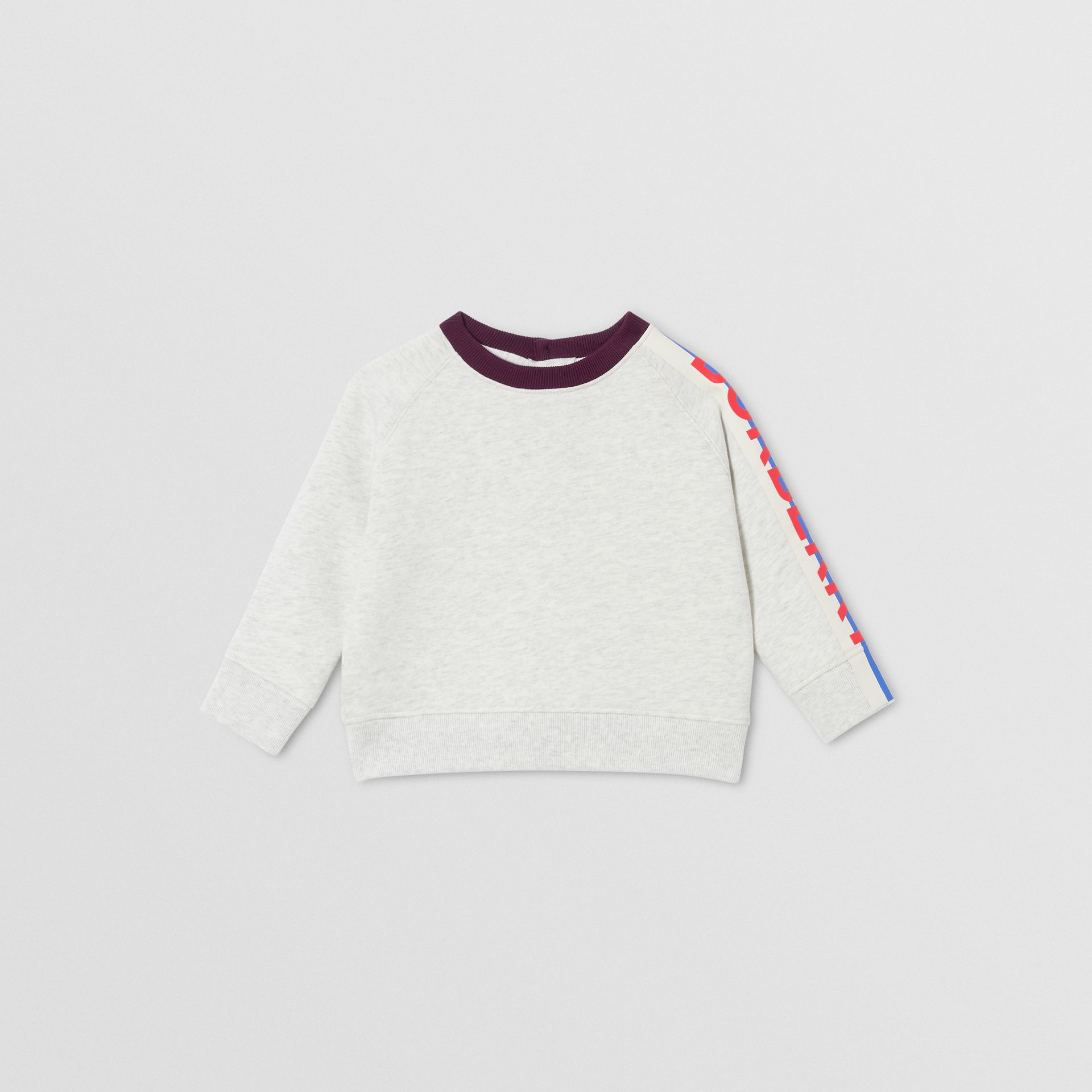 Logo Print Jersey Sweatshirt in White Melange - Children | Burberry - gallery image 0