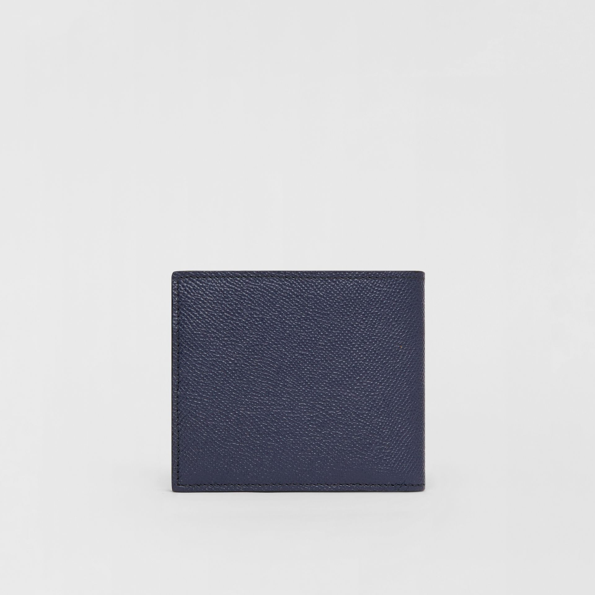 Grainy Leather International Bifold Coin Wallet in Regency Blue - Men | Burberry - gallery image 4