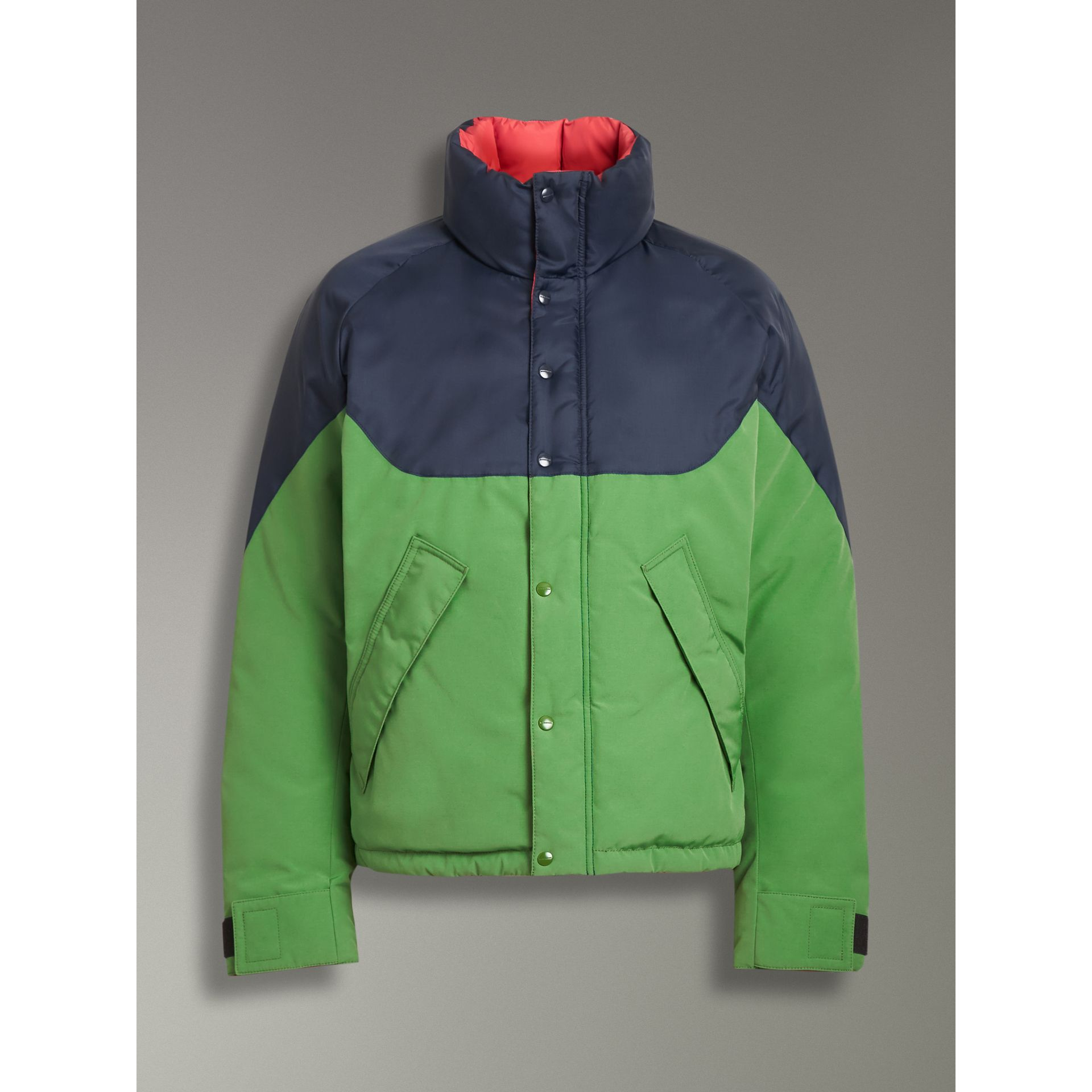 Tri-tone Down-filled Reversible Jacket in Bright Grass Green - Men | Burberry United Kingdom - gallery image 3