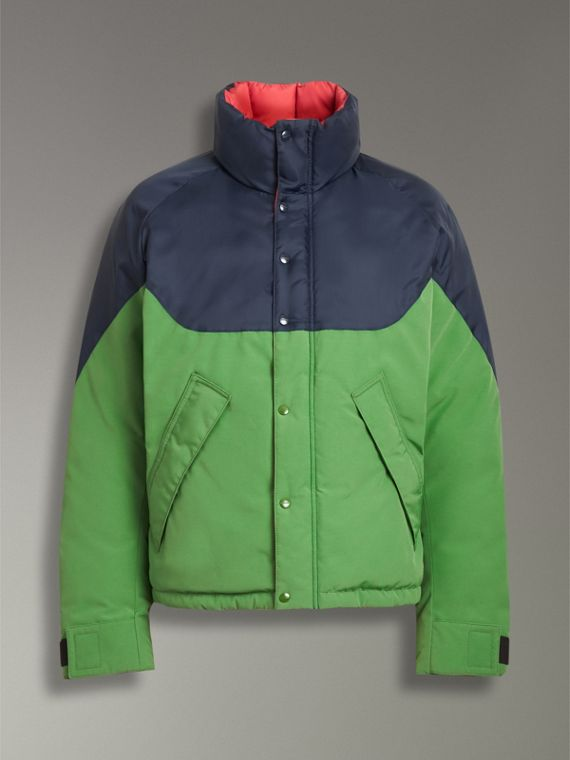 Tri-tone Down-filled Reversible Jacket in Bright Grass Green - Men | Burberry Australia - cell image 3