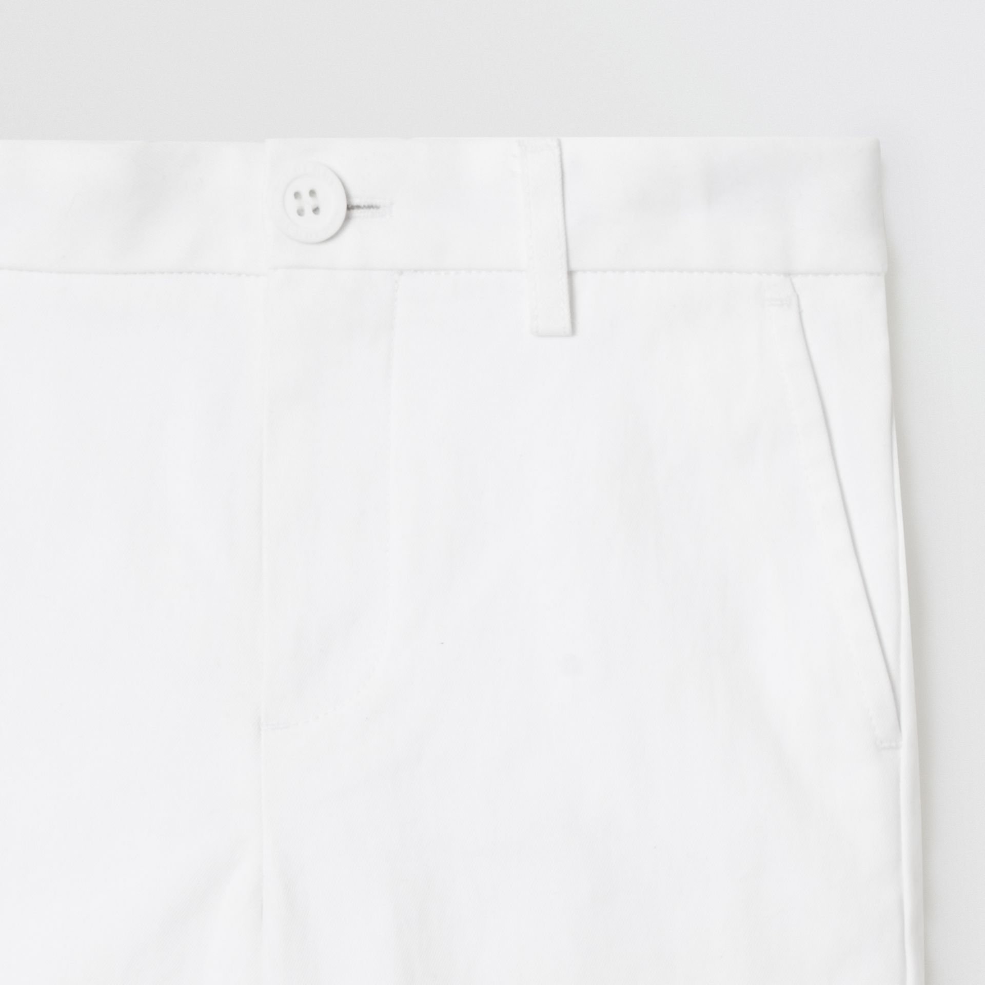 Cotton Chino Shorts in Optic White - Children | Burberry - gallery image 4