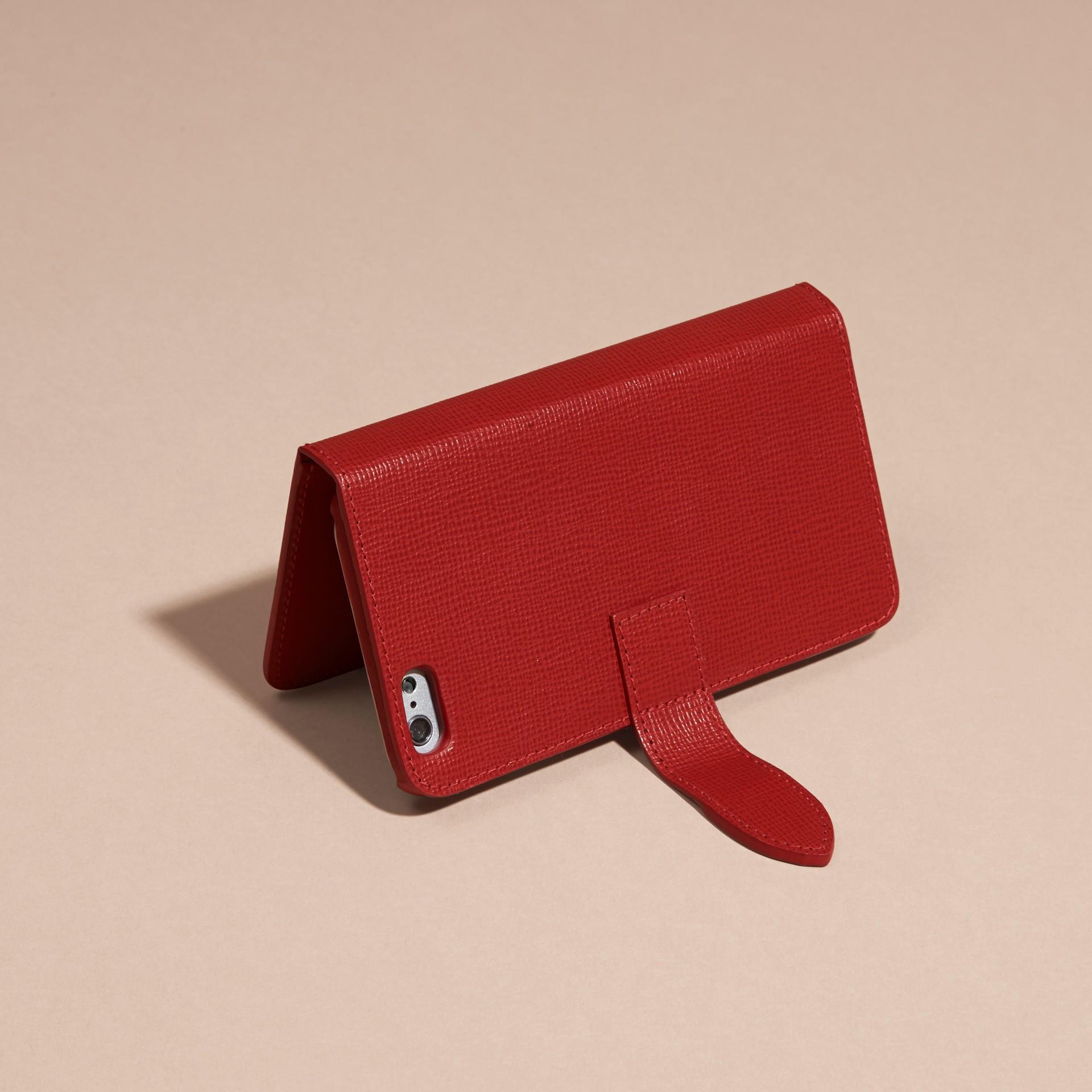 Rouge militaire sombre Étui à rabat pour iPhone6 en cuir London - photo de la galerie 3