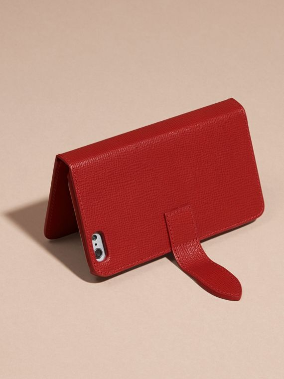 Rosso militare scuro Custodia a libro in pelle London per iPhone 6 - cell image 2